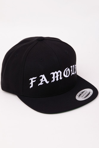 Бейсболка FAMOUS Famous Old Snapback (Black, O/S)