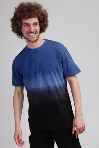 Футболка URBAN CLASSICS Dip Dyed Tee (Mid Night Navy/Black, M)