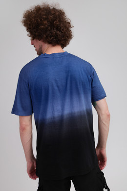 Футболка URBAN CLASSICS Dip Dyed Tee Mid Night Navy/Black фото 2