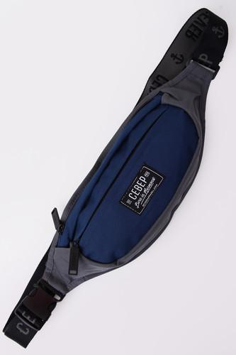 Сумка СЕВЕР СЕВ869 на пояс (Серый/Синий) молния riri ni карманная неразъемная на атласной тесьме цвет синий 9603 16 х 0 6 см