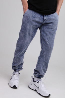 Брюки URBAN CLASSICS Acid Washed Corduroy Jog Pants Indigo фото