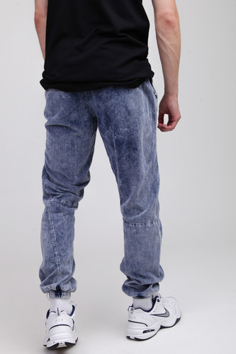 Брюки URBAN CLASSICS Acid Washed Corduroy Jog Pants Indigo фото 10