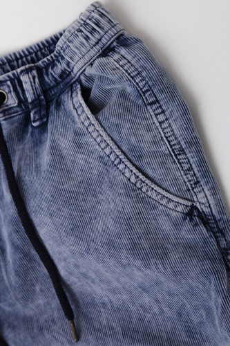 Брюки URBAN CLASSICS Acid Washed Corduroy Jog Pants Indigo фото 14