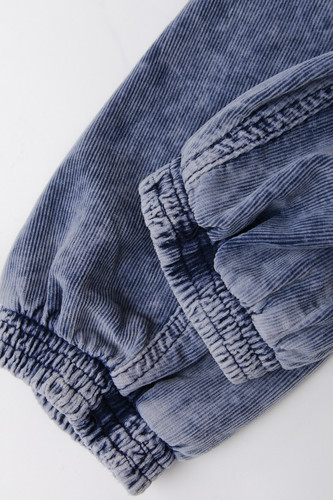Брюки URBAN CLASSICS Acid Washed Corduroy Jog Pants Indigo фото 16