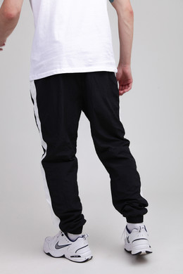 Брюки URBAN CLASSICS Side Striped Crinkle Track Pants Black/White фото 2