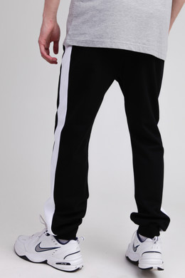 Брюки URBAN CLASSICS 2-Tone InterlockTrack Pants Black/White фото 2