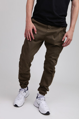 Брюки URBAN CLASSICS Stretch Jogging Pants (Olive, XL)