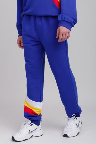 Брюки SUKOVA BM-01-00-N (Синий с красно-желто-белыми вставками, XL)