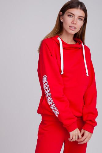 Толстовка SUKOVA (нашивка SUKOVA) (Красный, L) все цены
