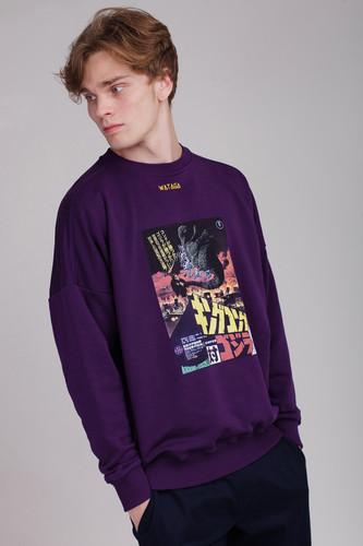 Толстовка WATAGA Godzi WSV-001 (Фиолетовый, L)