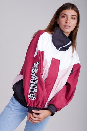 купить Ветровка SUKOVA VVY-01-1993 (Бордовый/Графит/Розовый/Белый, O/S) онлайн