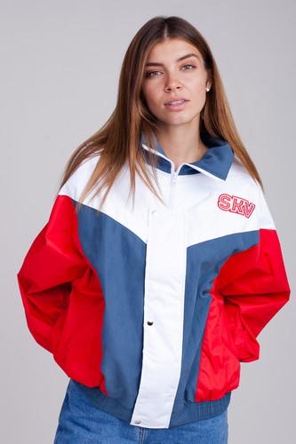 Ветровка SUKOVA VVY-01-1992 (Деним/Красный/Белый, O/S)