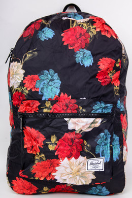 Рюкзак HERSCHEL Packable Daypack 10614 Vintage Floral Black фото 2