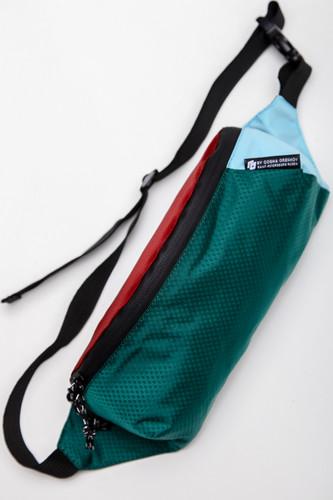 Сумка GOSHA OREKHOV Fanny Waist Pack Minimal Color (Бордовый/Зеленый Изумрудный/Бледно-Голубой)