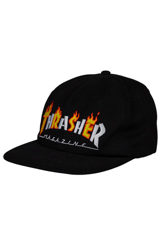 Фото - Кепка THRASHER FLAME MAG SNAPBACK (Black, O/S) thrasher кепка thrasher flame logo