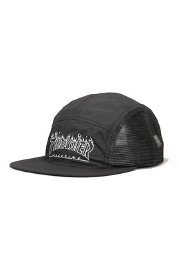 Кепка THRASHER FLAME OUTLINE 5-PANEL Black фото