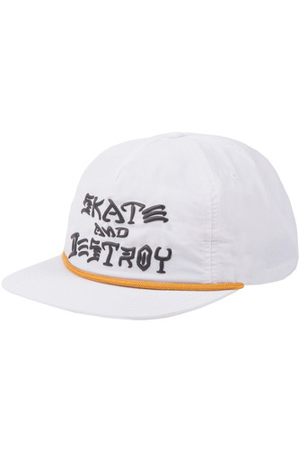 Кепка THRASHER SNAPBACK - S&D PUFF INK (White, O/S) thrasher кепка thrasher flame logo