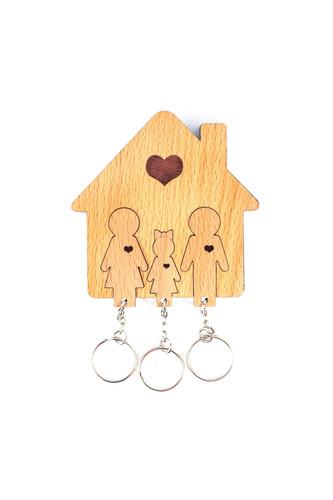 Ключница «Семья с дочерью» (Дерево)