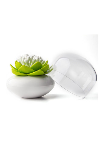 Контейнер для хранения ватных палочек lotus белый-зеленый (белый-зеленый)
