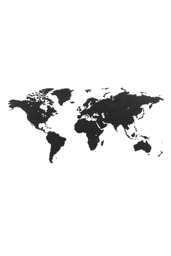 Пазл «Карта мира» черная 150х90 см new (Черный)