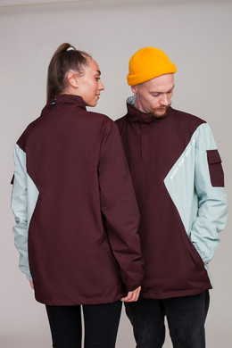Анорак SKILLS Nohood Neighbourhood Brown/Lt. Blue фото