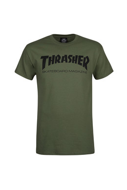 Футболка THRASHER SKATEMAG-S/S Army Green фото