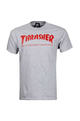 Футболка THRASHER SKATE MAG Gray/Red фото