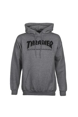 Толстовка THRASHER SKATE MAG HOOD (Grey, M) thrasher толстовка thrasher skate mag gray xl