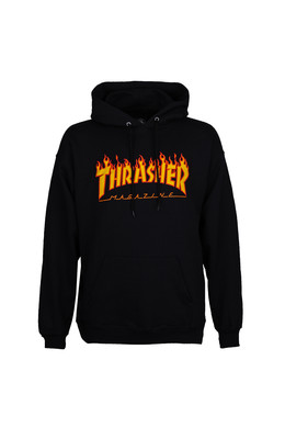 Толстовка THRASHER FLAME HOOD Black фото