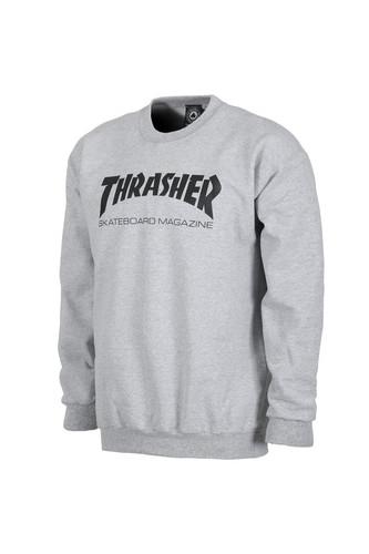 Толстовка THRASHER SKATE MAG CREWNECK (Gray, L) thrasher толстовка thrasher skate mag gray xl