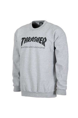 Толстовка THRASHER SKATE MAG CREWNECK (Gray, XL) цена