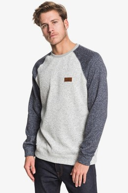 Свитшот QUIKSILVER Keller Block LIGHT GREY HEATHER (sjsh) фото