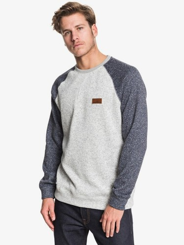 Свитшот QUIKSILVER Keller Block (LIGHT GREY HEATHER (sjsh), M)