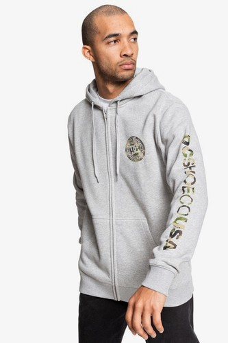 Толстовка на молнии DC SHOES Circle Star (Grey Heather/Camo, S)