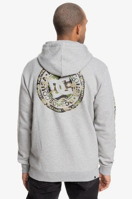 Толстовка на молнии DC SHOES Circle Star Grey Heather/Camo фото 2