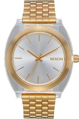 Часы NIXON Time Teller Acetate  Light Gold/Clear фото