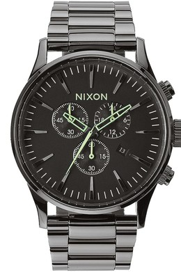 Часы NIXON Sentry Chrono  POLISHED GUNMETAL/LUM фото