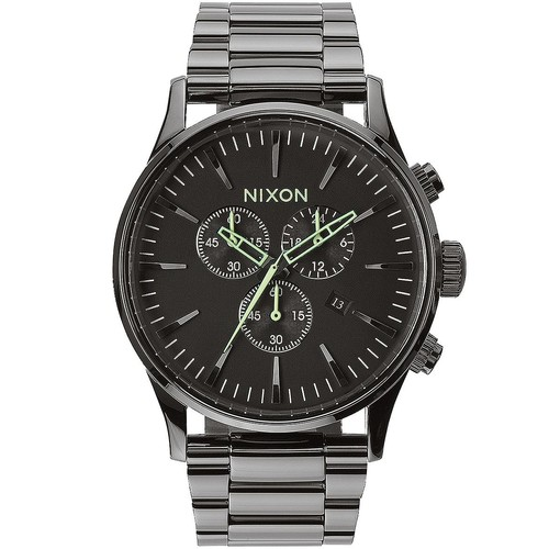 Часы NIXON Sentry Chrono  POLISHED GUNMETAL/LUM фото 2