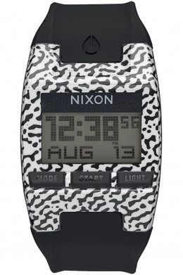 Часы NIXON COMP S BLACK/WHITE AMOEBA фото