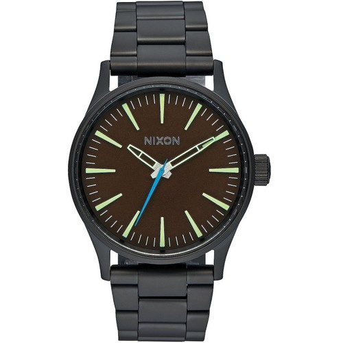 Часы NIXON SENTRY 38 SS ALL BLACK/BROWN фото 2