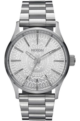 Часы NIXON SENTRY 38 SS ALL SILVER/STAMPED фото