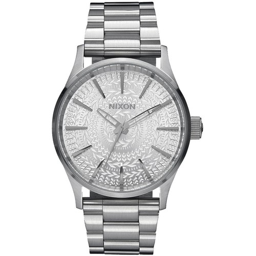 Часы NIXON SENTRY 38 SS ALL SILVER/STAMPED фото 2