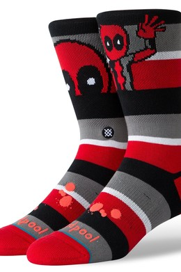 Носки STANCE DISNEY MENS DEADPOOL STRIPE Red фото