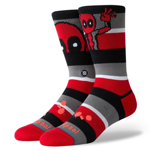 Носки STANCE DISNEY MENS DEADPOOL STRIPE Red фото 2