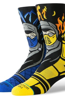 Носки STANCE FOUNDATION SUB ZERO VS SCORPION Black фото