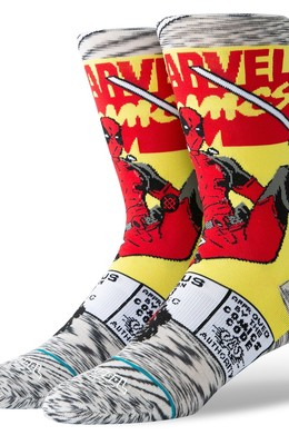 Носки STANCE DISNEY MENS DEADPOOL COMIC Grey фото