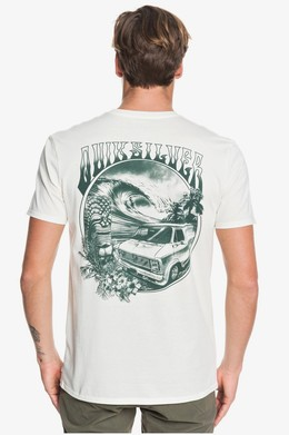 Футболка QUIKSILVER Waves Women And Wheels ANTIQUE WHITE HEATHER (wclh) фото 2