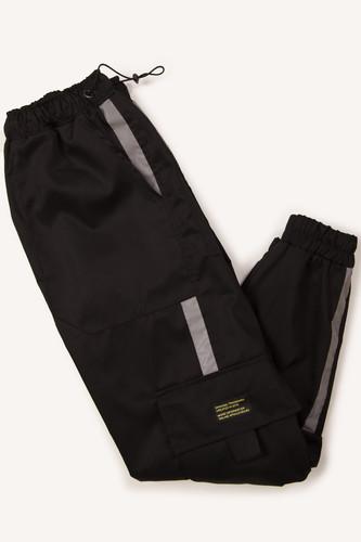 Джоггеры карго KUL'TURA Reflective stripes (Черный, XL)