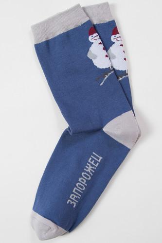 Носки ЗАПОРОЖЕЦ Снеговик ёлочная игрушка (Джинс, 41-45) набор для ванной комнаты lefard 437 103 4 предмета