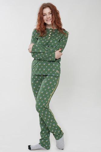 Пижама ЗАПОРОЖЕЦ Game женская (Green Aop, XS) шорты запорожец ogurci green xs